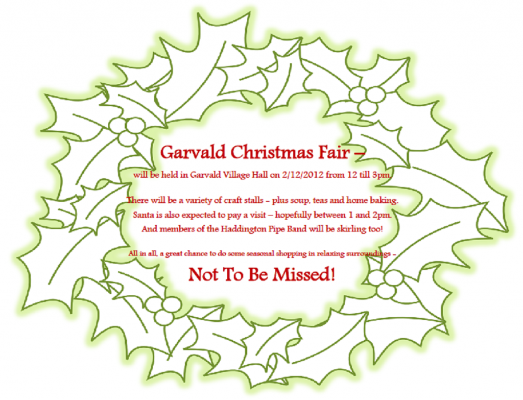 Craft Fair Sunday 2nd December 12-3pm