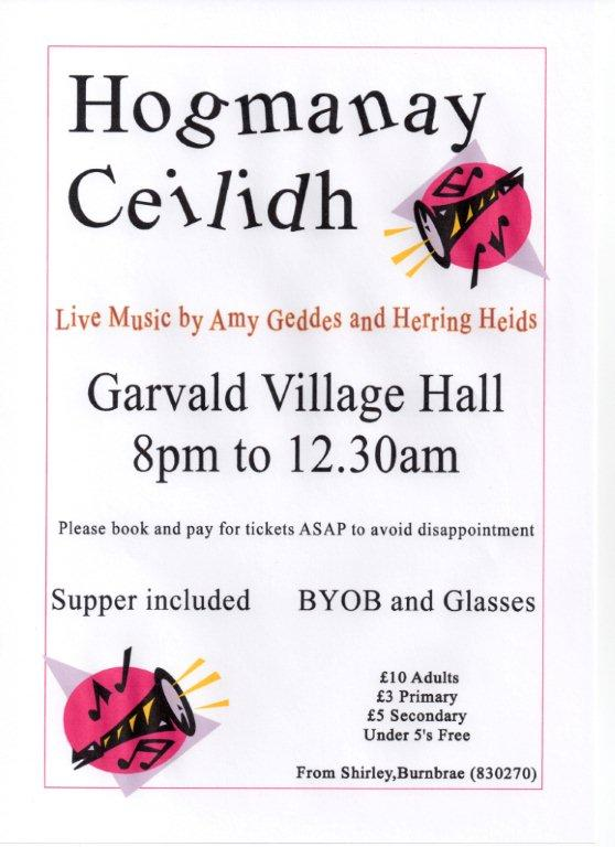 Ceilidh tickets on sale