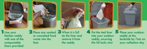 food waste caddies