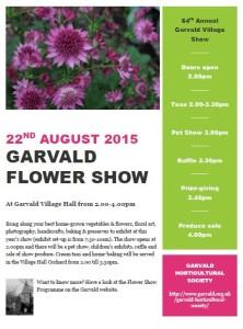 Garvald flower show poster 2015