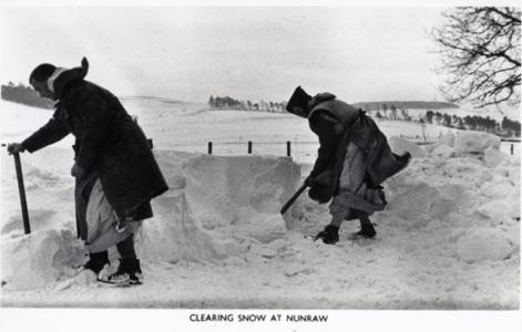 Snow at Nunraw