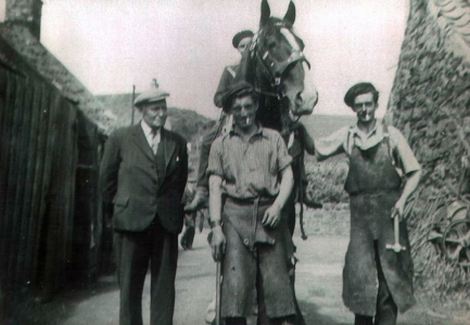 Mr Aitchison (?), Andy Wilson, Horse rider (?), John Webster