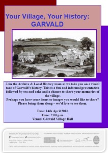Garvald village hall tour poster