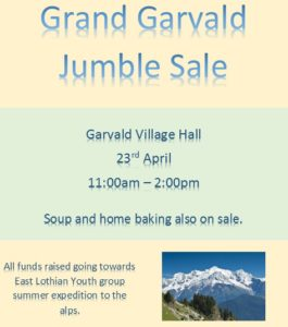 jumble sale 23rd April 11-2pm