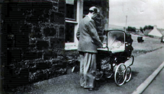 Jack (Recovering Soldier) and Patricia Webster (baby)