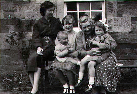 Miss Woolley, Mabel Chirnside and Webster Family
