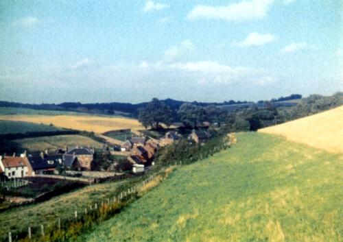 Papana Burn south bank and village