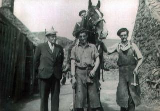 Mr Aitchison (?), Andy Wilson, Horse rider (?), John Webster
