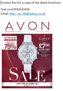 Avon rep details