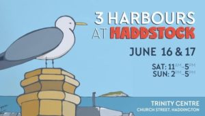 3 harbours arts festival at haddstock - poster