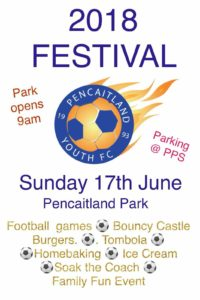 Pencaitland festival 17th June at the park