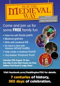 Free event Medieval games and activities 25 August 10-1pm